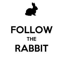 Poster:  FOLLOW THE RABBIT
