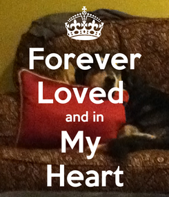 Poster: Forever Loved  and in My  Heart