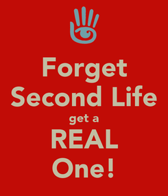 Poster: Forget Second Life get a REAL One!