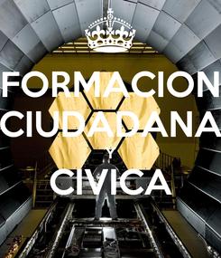 Poster: FORMACION CIUDADANA Y CIVICA