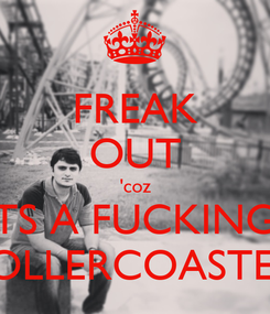 Poster: FREAK OUT 'coz ITS A FUCKING  ROLLERCOASTER.