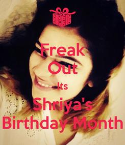 Poster: Freak Out Its Shriya's Birthday Month