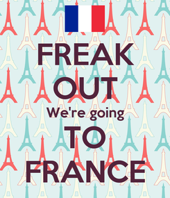 Poster: FREAK OUT We're going TO FRANCE