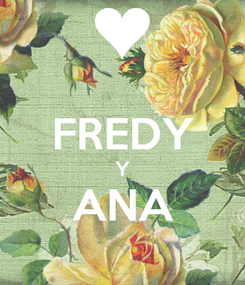 Poster:  FREDY Y ANA