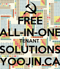 Poster: FREE ALL-IN-ONE TENANT  SOLUTIONS YOOJIN.CA