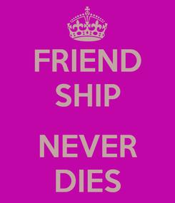 Poster: FRIEND SHIP  NEVER DIES