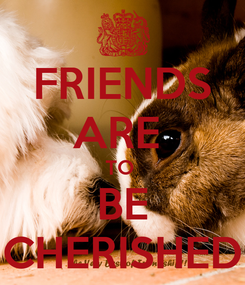 Poster: FRIENDS ARE  TO  BE CHERISHED
