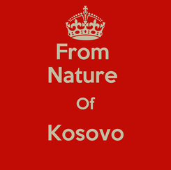 Poster: From  Nature  Of Kosovo