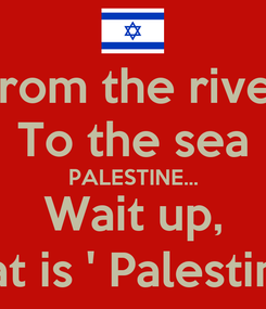 Poster: From the river To the sea PALESTINE... Wait up, What is ' Palestine '?