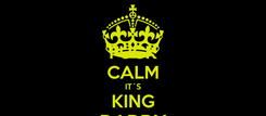Poster: FUCK CALM IT´S KING DADDY