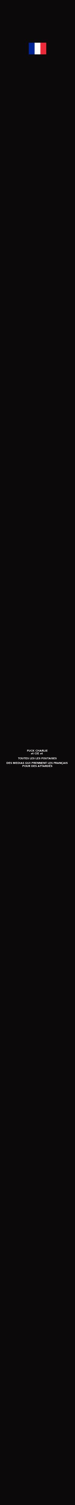 Poster: FUCK CHARLIE et CIE et  TOUTES LES LES FOUTAISES DES MEDIAS QUI PRENNENT LES FRANÇAIS  POUR DES ATTARDÉS