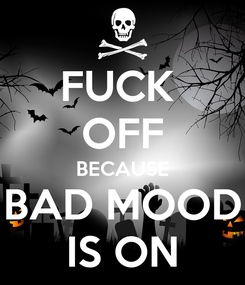 Poster: FUCK  OFF BECAUSE BAD MOOD IS ON