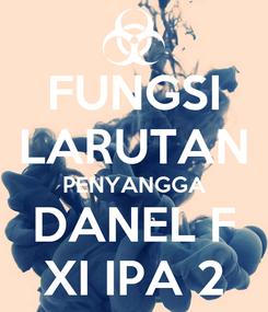 Poster: FUNGSI LARUTAN PENYANGGA DANEL F XI IPA 2