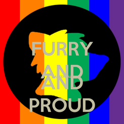Poster: FURRY AND PANSEXUAL AND PROUD