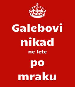 Poster: Galebovi nikad ne lete po mraku