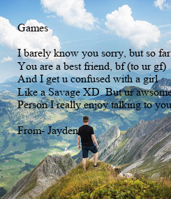 Poster: Games