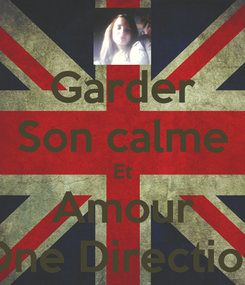Poster: Garder Son calme Et Amour One Direction