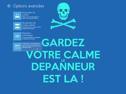 Poster: GARDEZ VOTRE CALME LE DEPANNEUR EST LA !