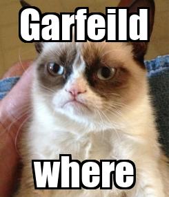 Poster: Garfeild where