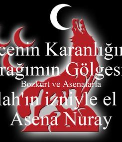 Poster: Gecenin Karanlığında Bayrağımın Gölgesinde Bozkurt ve Asenalarla Allah'ın izniyle el ele Asena Nuray