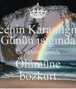 Poster: Gecenin Karanlığında Günün ışığında ÜÇ Hilalin uğrunda Ölümüne bozkurt