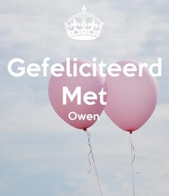 Poster: Gefeliciteerd Met Owen
