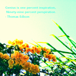 Poster: Genius is one percent inspiration,