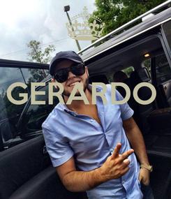 Poster:  GERARDO