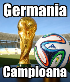 Poster: Germania Campioana