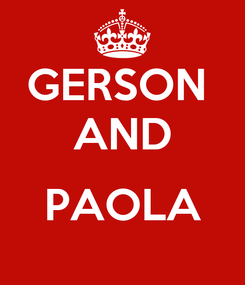 Poster: GERSON  AND  PAOLA