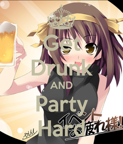 Poster: Get Drunk AND Party Hard