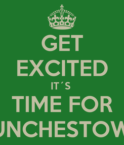 Poster: GET EXCITED IT´S  TIME FOR PUNCHESTOWN