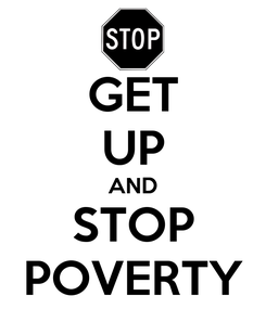 Poster: GET UP AND STOP POVERTY