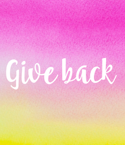 Poster: Give back