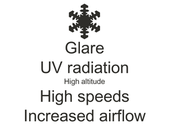 Poster: Glare UV radiation High altitude High speeds Increased airflow