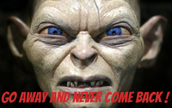 Poster:     Go away and never come back !