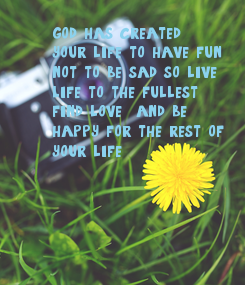 Poster: god has created 