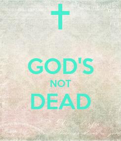 Poster:  GOD'S NOT DEAD