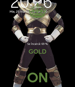 Poster:   GOLD  ON