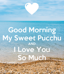 Poster: Good Morning My Sweet Pucchu AND I Love You So Much
