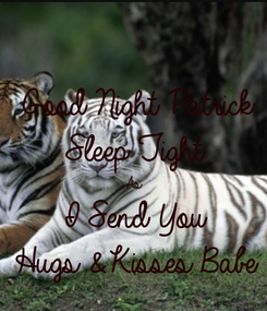 Poster: Good Night Patrick  Sleep Tight  As  I Send You  Hugs & Kisses Babe