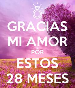 Poster: GRACIAS MI AMOR POR ESTOS 28 MESES