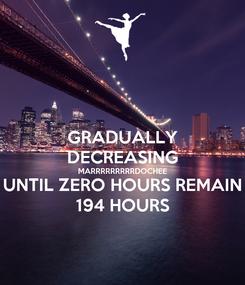 Poster: GRADUALLY DECREASING MARRRRRRRRRDOCHEE UNTIL ZERO HOURS REMAIN 194 HOURS