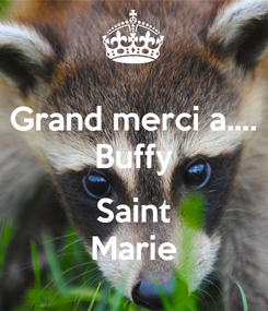 Poster: Grand merci a.... Buffy  Saint Marie