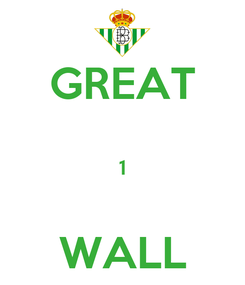 Poster: GREAT  1  WALL