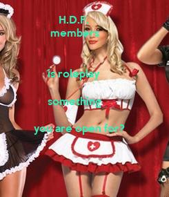 Poster:                  H.D.F.