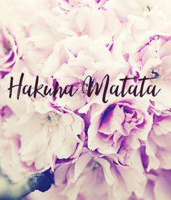 Poster: Hakuna Matata