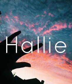 Poster: Hallie