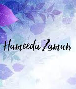 Poster: Hameeda Zaman