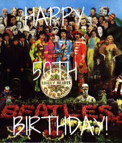 Poster: HAPPY   50TH   BIRTHDAY!